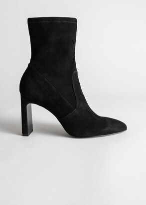 And other stories Suede Pointed Sock Boots