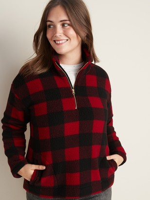 Old Navy Plus-Size Sherpa 1/4-Zip Pullover