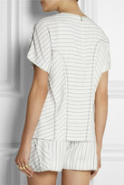 Alexander Wang Pinstriped crepe top