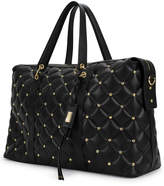 Badgley Mischka The Quilted Faux Leather Weekender Bag