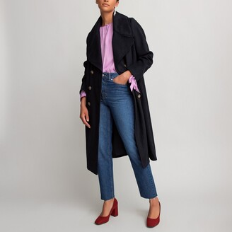 La Redoute Collections Long Double-Breasted Coat
