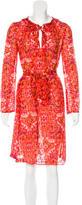 Tory Burch Ikat Print Silk Dress