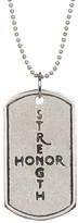 Tommy Bahama Sterling Silver Strength/Honor Necklace