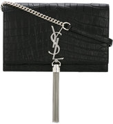 Saint Laurent Kate wallet on chain - women - Calf Leather/Metal (Other) - One Size