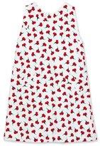 Oscar de la Renta Sleeveless Carnation Bud Shift Dress, White, Size 4-14