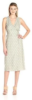 MinkPink Women's Olive Wrap Midi Dress Medium