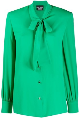 Boutique Moschino Tie-Neck Long-Sleeved Shirt