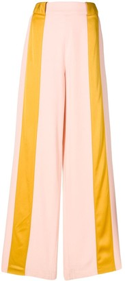 Marni Contrast Striped Flared Trousers