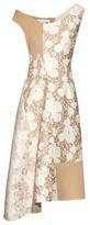 Stella McCartney Jackie off-the-shoulder patchwork dress