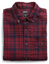 Todd Snyder Linen Button Down Shirt in Red Plaid