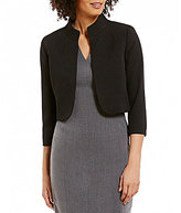Alex Marie Wales Stand Collar 3/4 Sleeve Solid Jacket