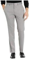 Kenneth Cole Reaction Stretch Urban Heather Slim Fit Flat Front Dress Pants (Heather Grey) Men's Dress Pants