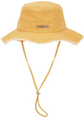 Jacquemus Le Bob Artichaut Yellow Canvas Bucket Hat