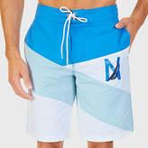 Nautica Quick Dry Diagonal Stripe Boardshort