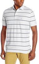 Nautica Men's Striped Performance Pique Polo Shirt