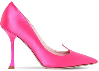 Roger Vivier 100mm I Love Vivi Satin Pumps