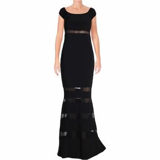 Xscape Evenings Women's Long Off The Shoulder Dress W/Illusion