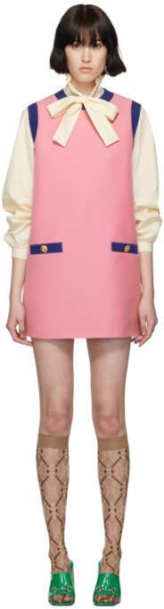 Gucci Pink and Blue Bicolor Mini Dress