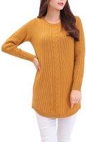 Cashmere DX MedzRE Women's Elegant Twist Knit Thick Cashmere Pullover Sweater M