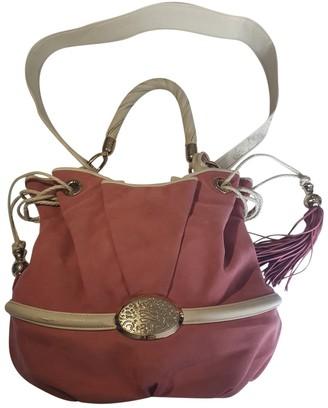 Lancel Brigitte Bardot Pink Velvet Handbags