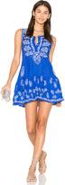 Juliet Dunn Embroidered Shift Dress