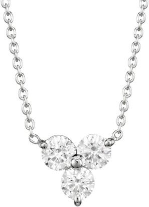 Roberto Coin Diamond Classic 18K White Gold & Diamond Cluster Pendant Necklace