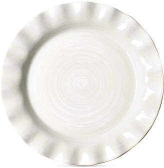 Coton Colors by Laura Johnson Signature Ruffle White Dinner Plate