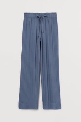 H&M Wide-leg Pajama Pants