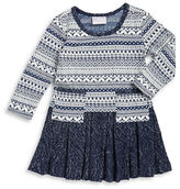 Iris & Ivy Girls 2-6x Pleated FairIsle Sweater Dress