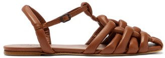 Hereu Cabersa Woven-leather Slingback Sandals - Tan