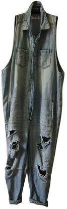 One Teaspoon Blue Denim - Jeans Jumpsuit for Women