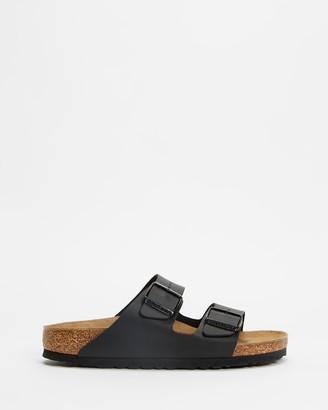 Birkenstock Women's Black Flat Sandals - Womens Arizona Birko-Flor Narrow Sandals - Size 35 at The Iconic