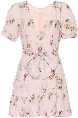 LoveShackFancy Lena floral linen dress