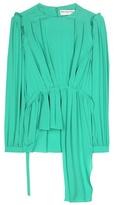 Balenciaga Frill Silk Blouse