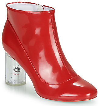 Katy Perry THE GLOBEE women's Low Ankle Boots in Red