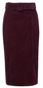 Dorothy Perkins Womens Tall Aubergine Corduroy Belted Midi Skirt