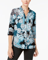 Charter Club Floral-Print Utility Shirt, Created for Macy's