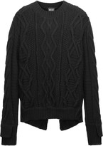 Just Cavalli Cable-knit wool sweater
