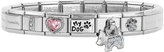 Nomination Classic I Love My Dog Stainless Steel Bracelet w/Charm