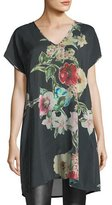 Johnny Was Cambria Floral-Print Blouse, Plus Size