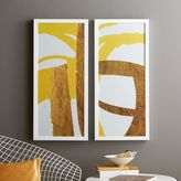 west elm The Arts Capsule Ink Diptych - Sun Gold