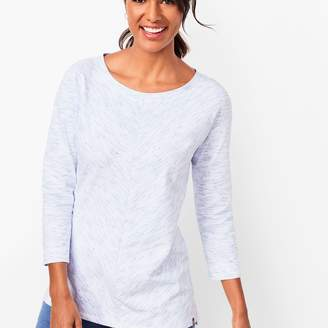 Talbots Space-Dyed Three-Quarter-Sleeve Top