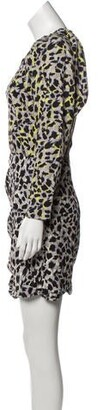 CARMEN MARCH Long Sleeve Mini Dress w/ Tags Grey