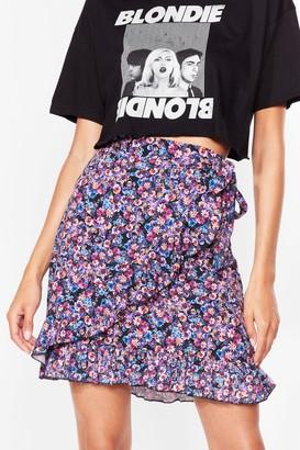 Nasty Gal Womens Somewhere Only We Grow Floral Mini Skirt - Purple - 6, Purple