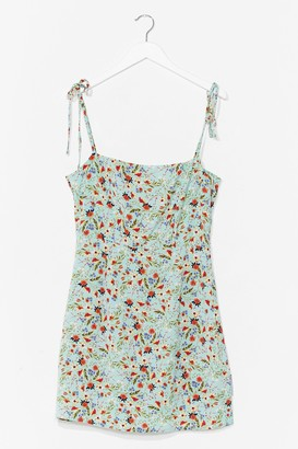 Nasty Gal Womens That's a Re-leaf Floral Mini Dress - Mint