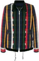 Sacai striped zipped jacket