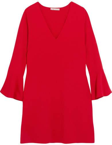Alice + Olivia Tameika Crepe Mini Dress - Red