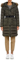 Moncler Women's Fur-Trimmed Khloe Coat-DARK GREEN