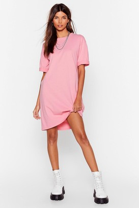Nasty Gal Womens Won't Wash With Me Oversized Tee Dress - Pink
