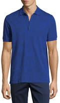 Etro Jersey Paisley Short-Sleeve Polo Shirt, Blue Pattern